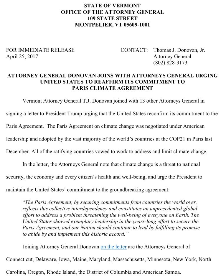 Vermont Ag Donovan 6 Weeks Ago I Joined 13 Ags Urging