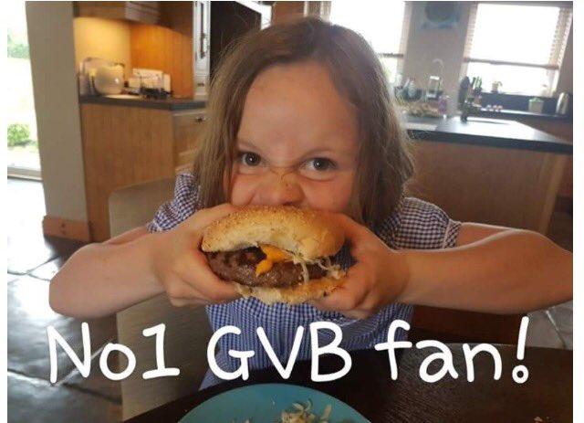 Ruby demolishing her #glenovalleybeef burger 😋😋 they really are so good!