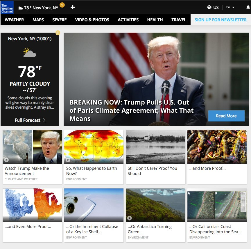 The Weather Channel seems frustrated. https://t.co/pAcm0nSLco