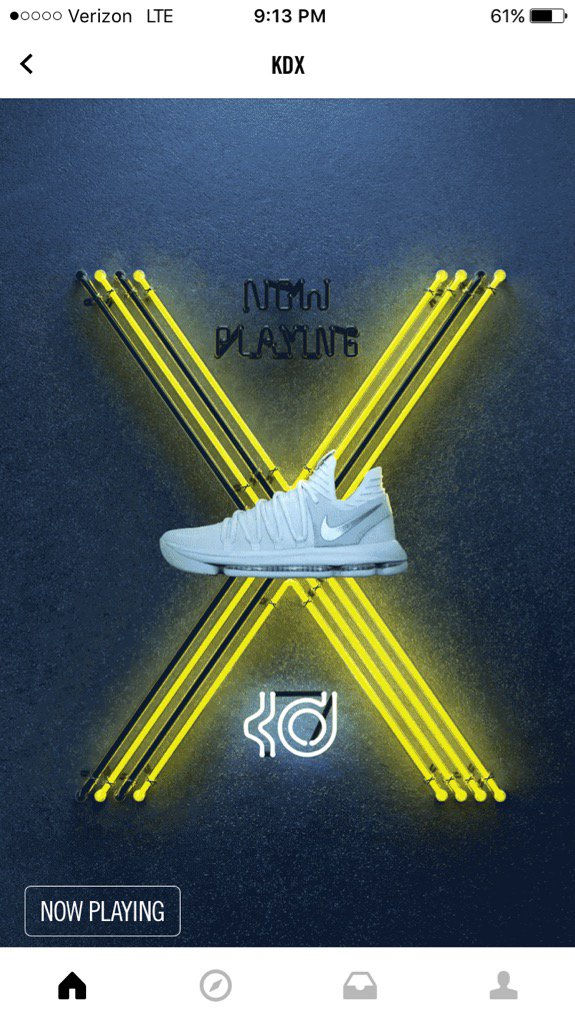 Nike selling kevin durant's new shoe on its snkrs app as