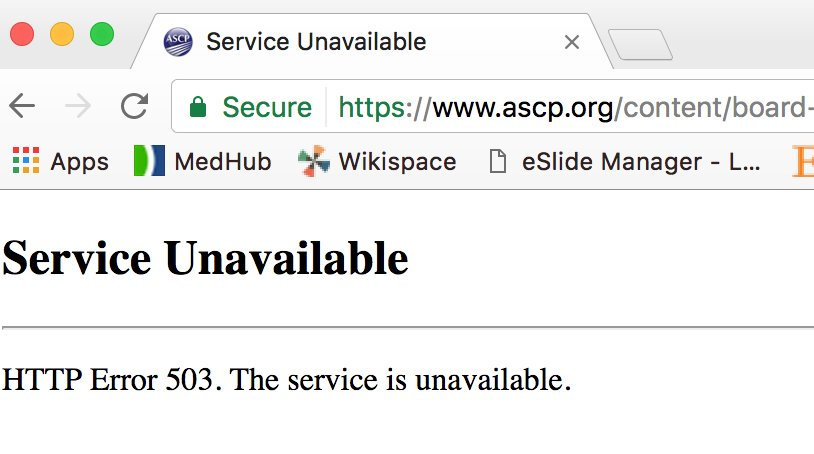 @ASCP_Chicago Services seem to be unavailable? = no #PRISE questions to do . When will they come back? <br>http://pic.twitter.com/ZTzGnThsou