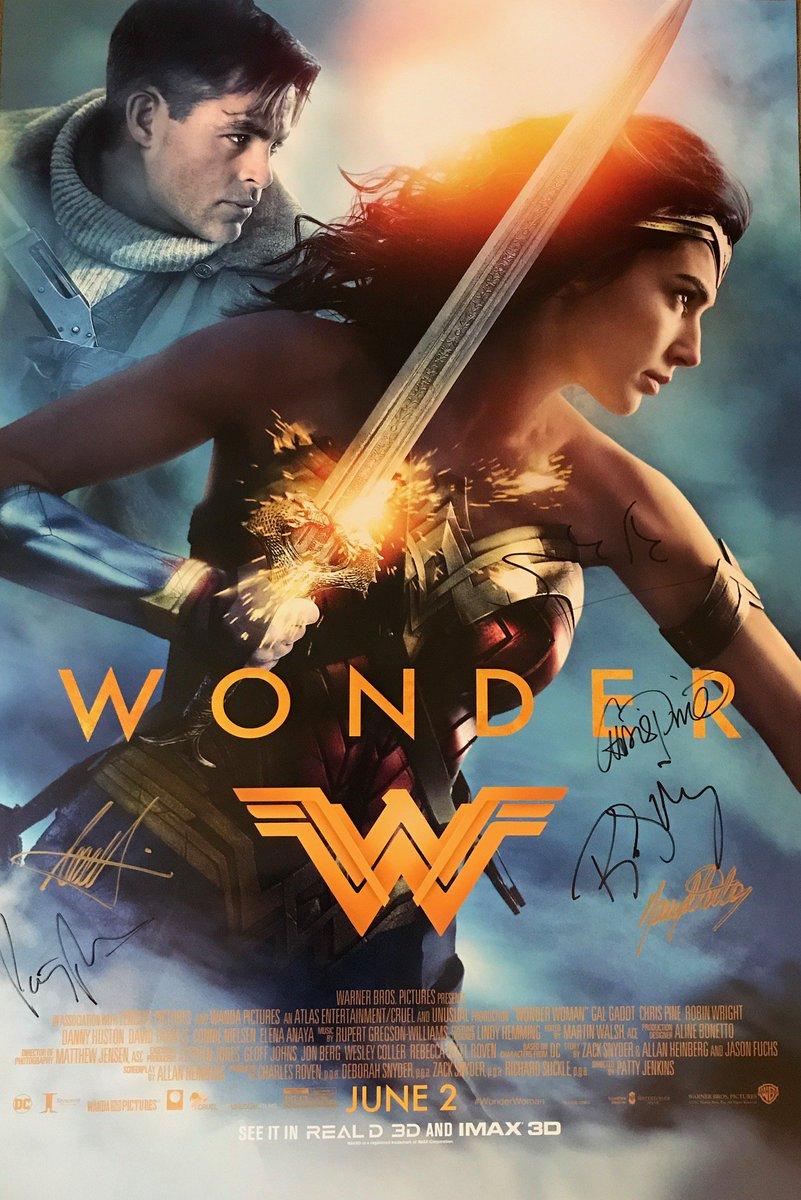FOLLOW & RT for a chance to win a #WonderWoman signed by the cast & director! Get tix: https://t.co/UtVBmOIXr3