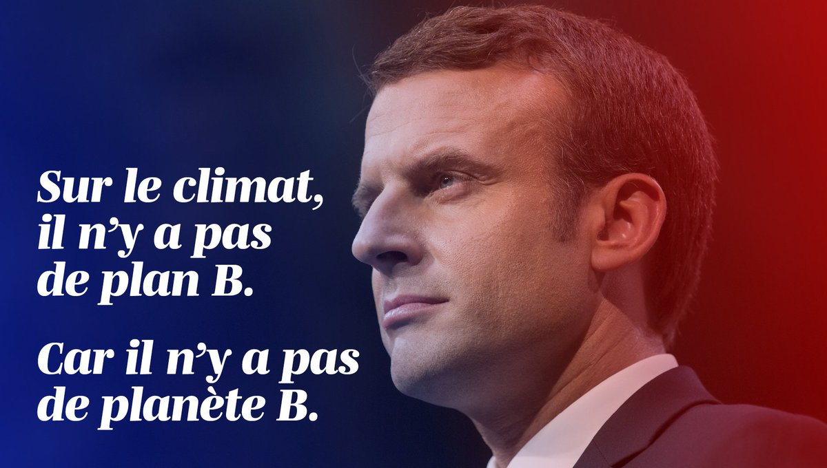 Thank you Monsieur le président @EmmanuelMacron for your great speech tonight. #hope  #MakeOurPlanetGreatAgain https://t.co/2YmALcp0cA