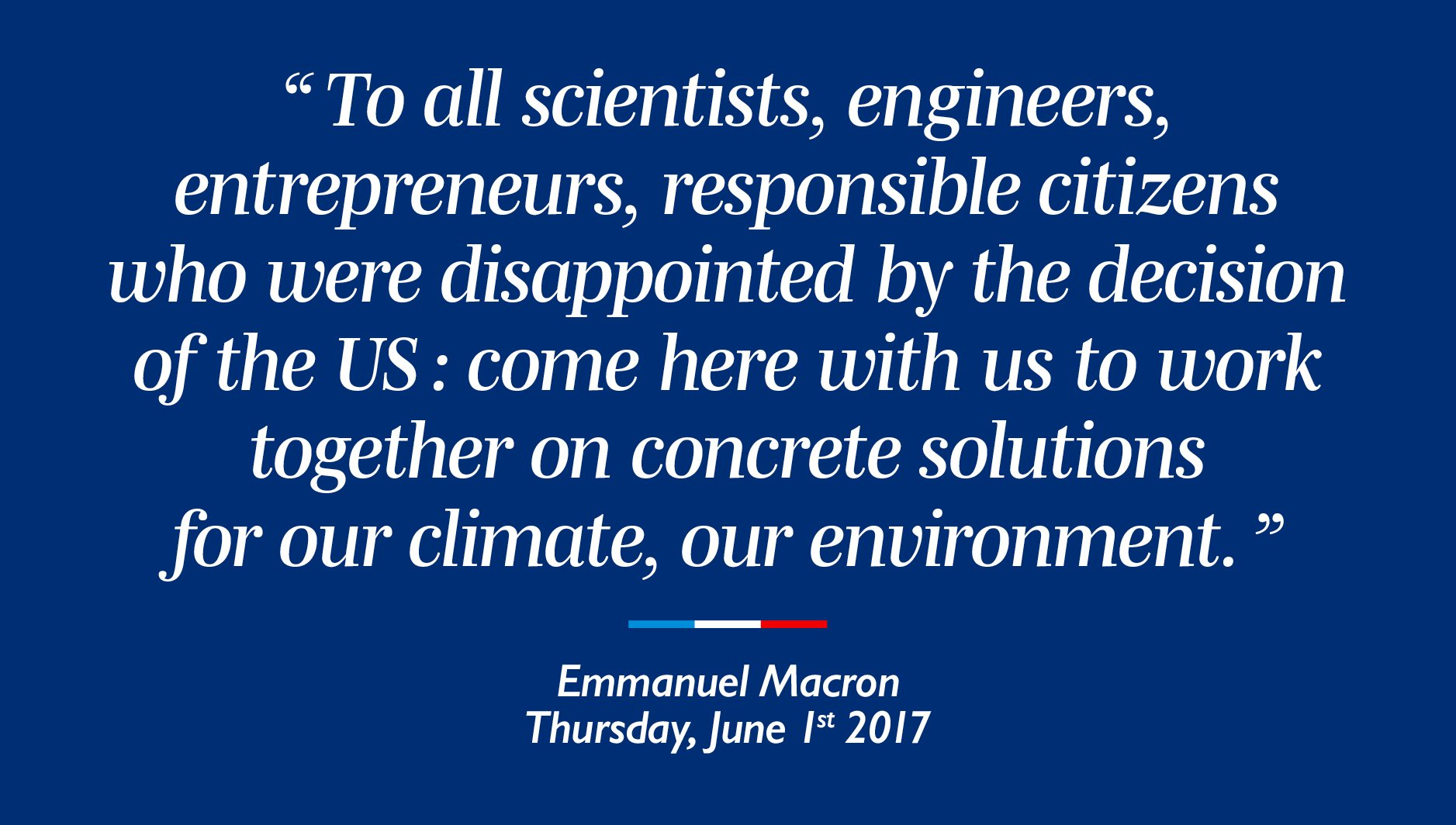 Come here with us to work together on concrete solutions for our climate, our environment. https://t.co/JXiqgMP8Xy