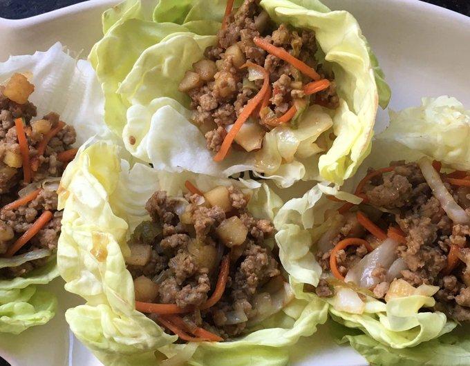 Asian Inspired Lettuce Wraps