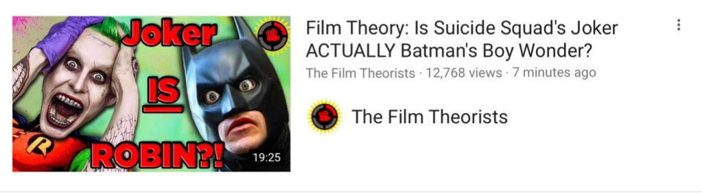 Game Theory Rejects On Twitter Film Theory Robin Twenty
