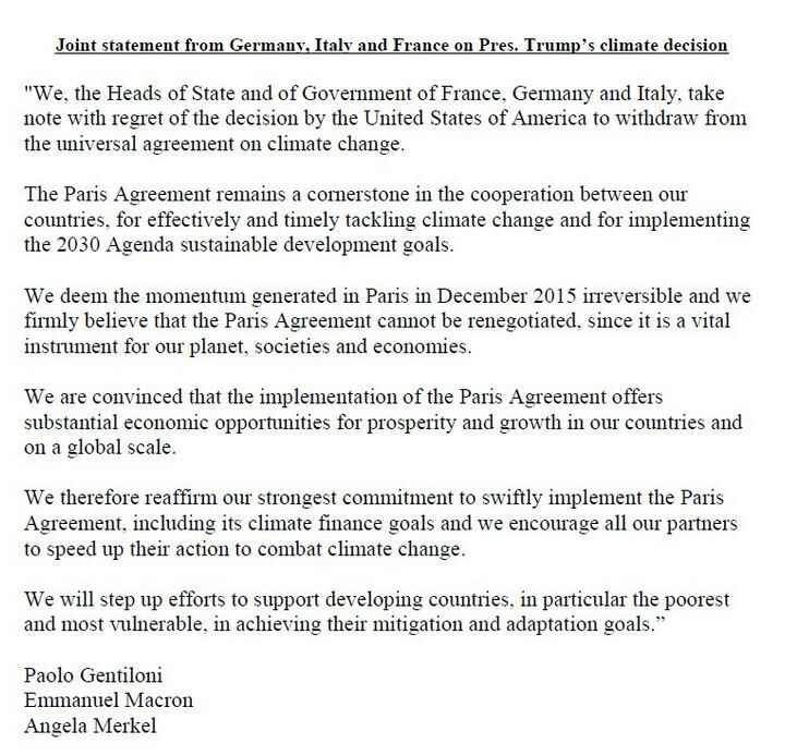 France Onu Vienne On Twitter Joint Statement By France Germany