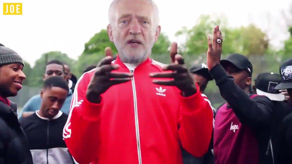 No one spits bars like Jeremy Corbzy... 😎 @JeremyCorbyn @Stormzy1 #GE2017