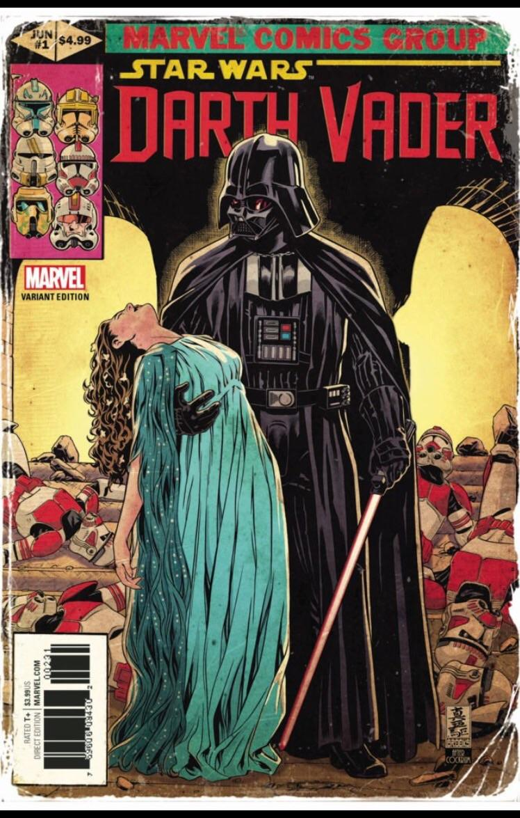 This variant cover of the new Darth Vader comic needs to be poster sized. And framed. https://t.co/iXGn0INarU