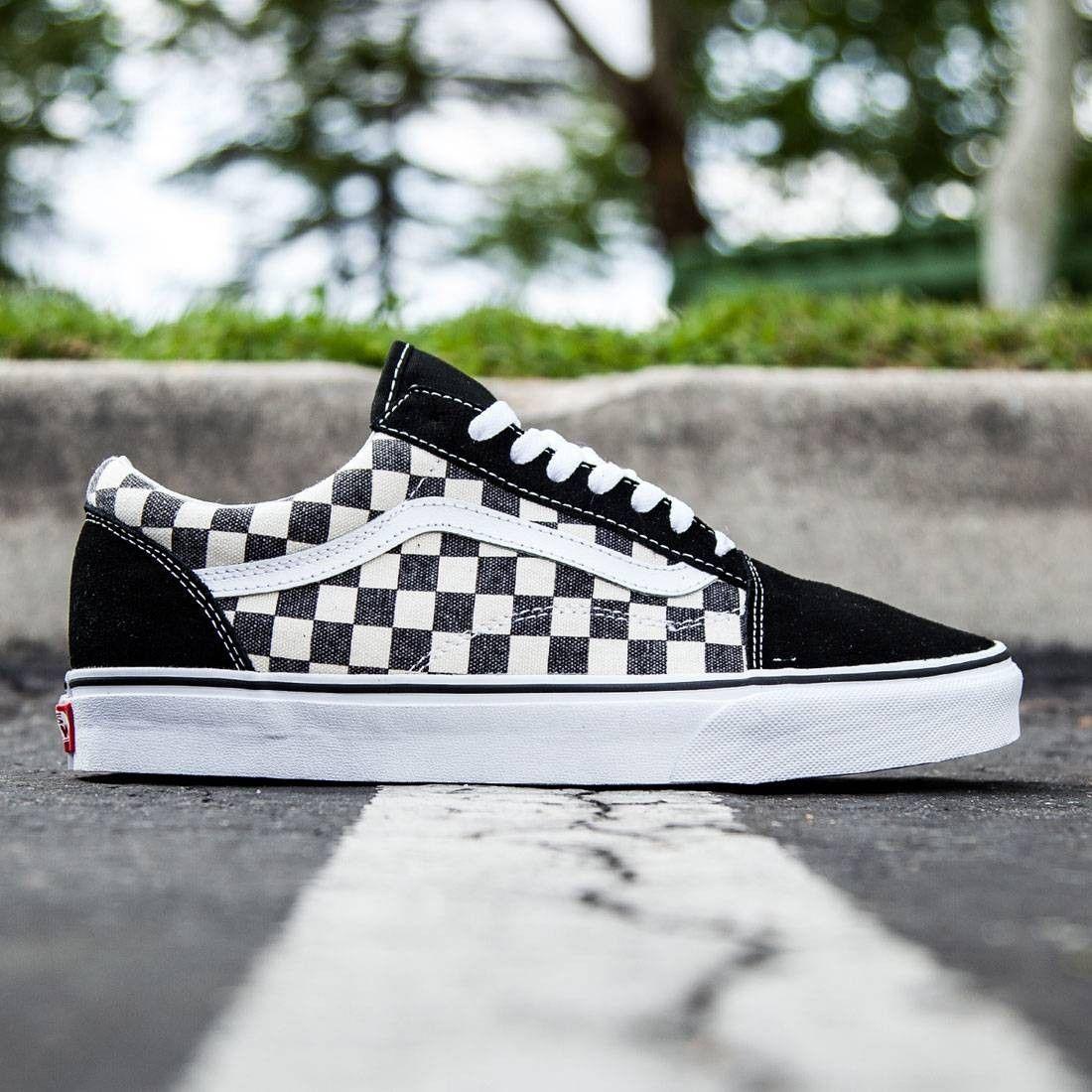 vans checkerboard slip on journeys