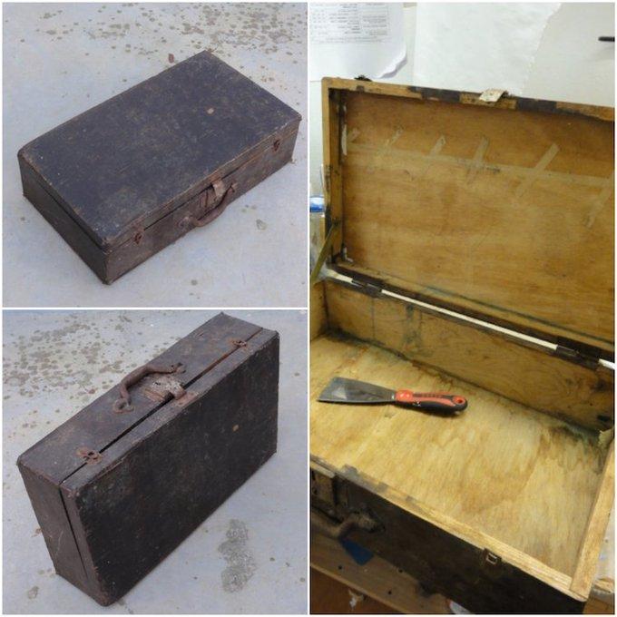 De vieja maleta a armario de baño DIY