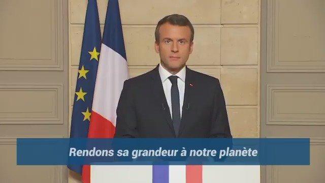 'Make our planet great again'. Quand #Macron défie #Trump en anglais