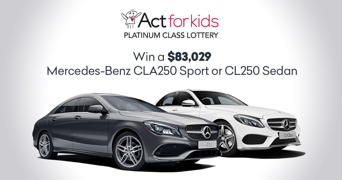 Oz Lotteries On Twitter Enter The Act For Kids Charity Draw And