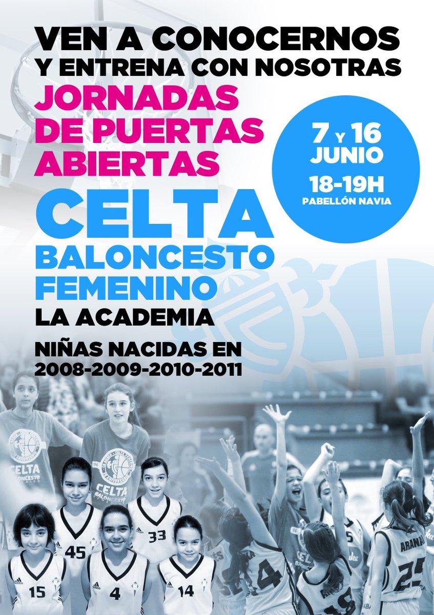 Ven a conocernos. Jornadas de puertas abiertas @LaAcademiaCelta @Celtabaloncesto