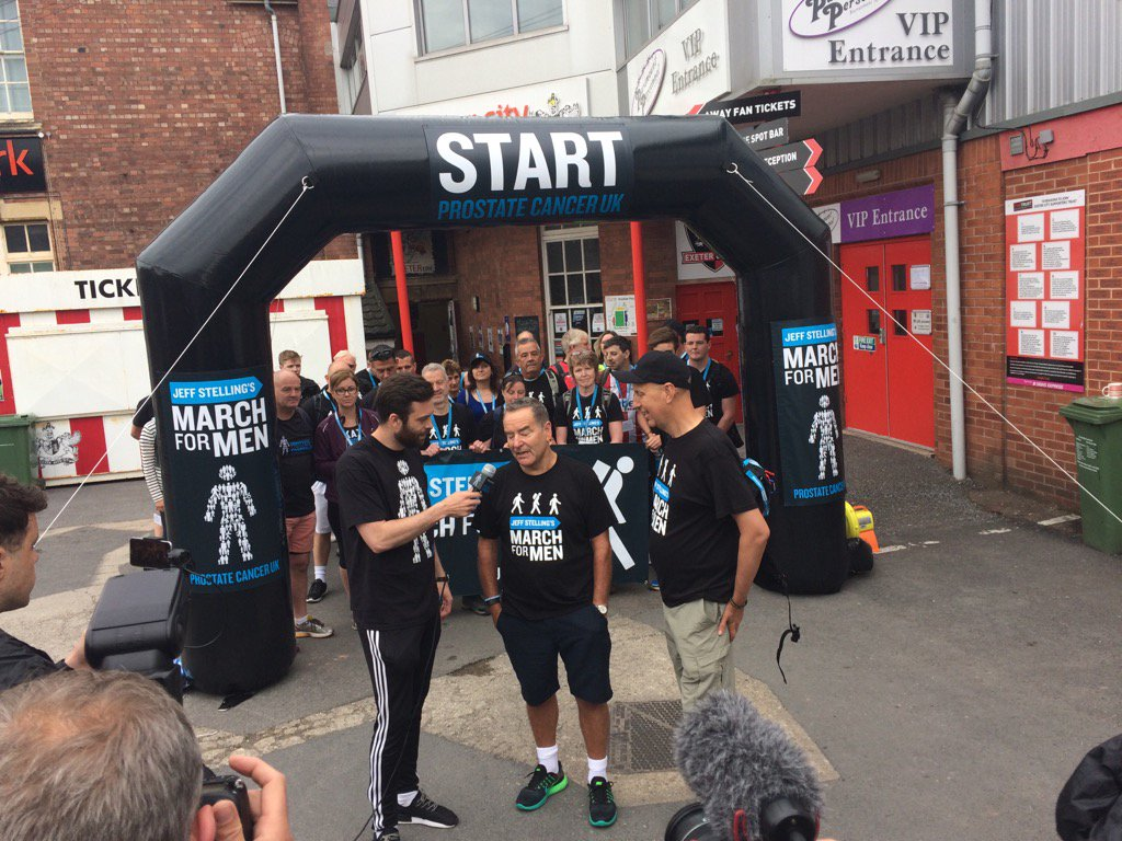 Here he goes, at the start of his @ProstateUK walk from Exeter SJP  to Newcastle SJP #JeffsMarch @BBCDevon at 0835 https://t.co/02gNtcBaI5