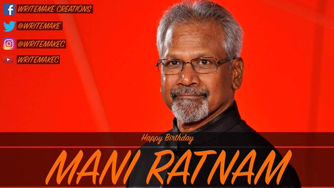 We would like to wish MANI RATNAM a Happy Birthday.