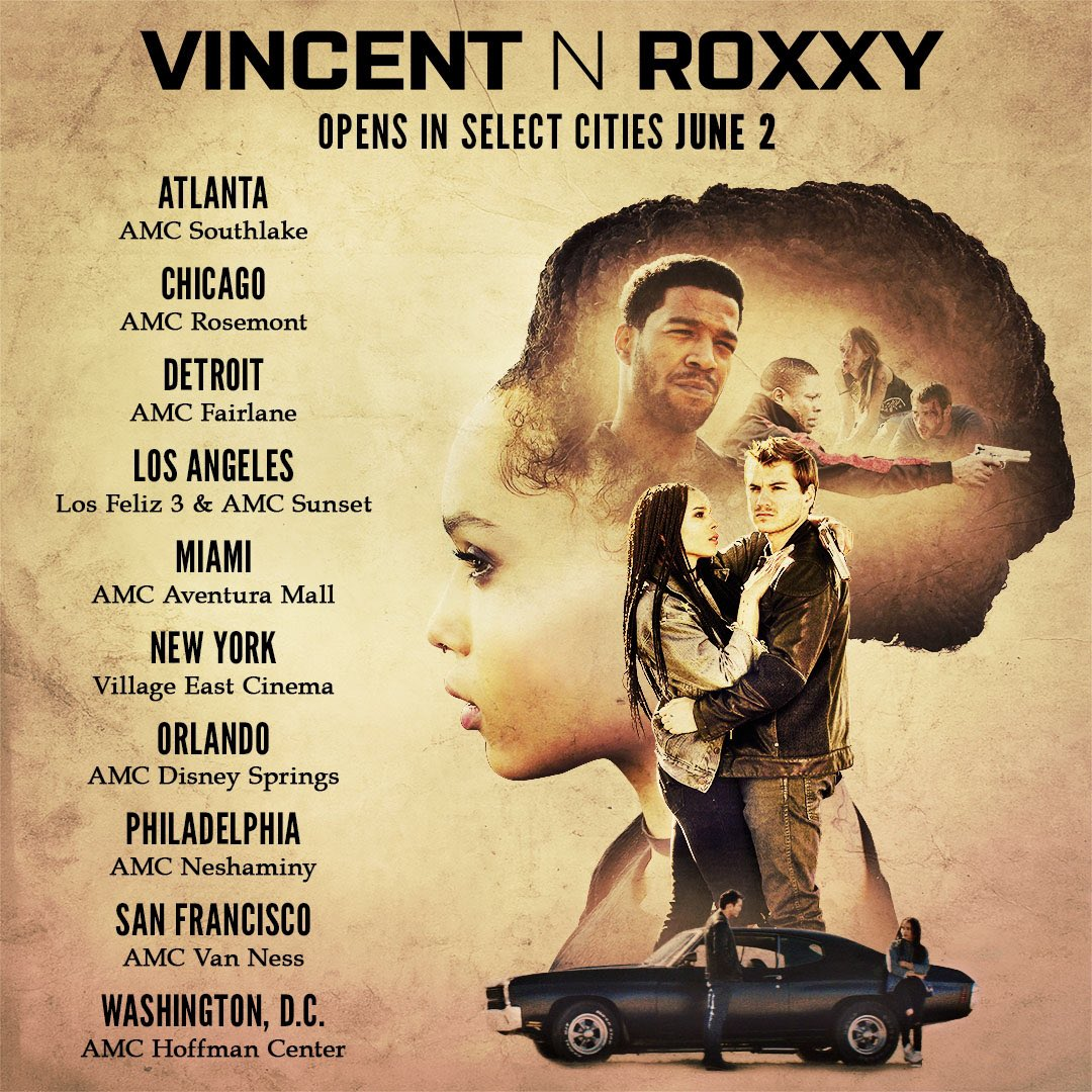 #VincentNRoxxy is in select theaters and on @AmazonVideo now! Check it out here:http://amzn.to/2r2cVH3  💔💔