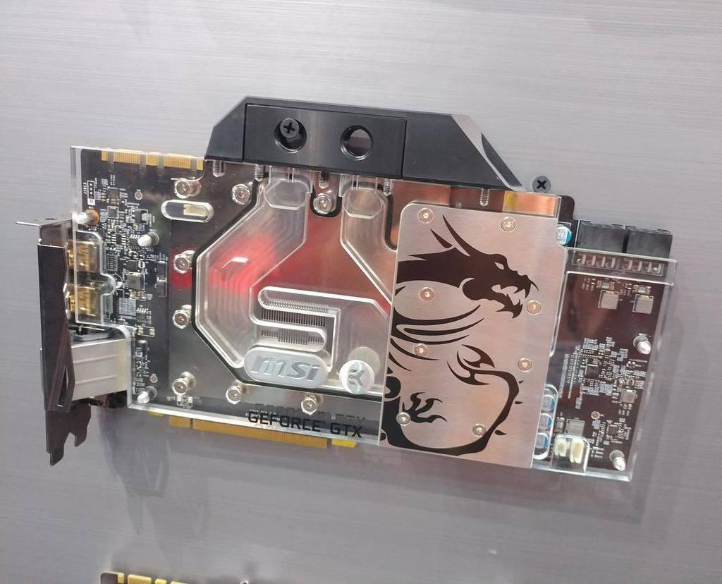 MSI GeForce GTX Ti Sea Hawk EK water cooled Ti video card