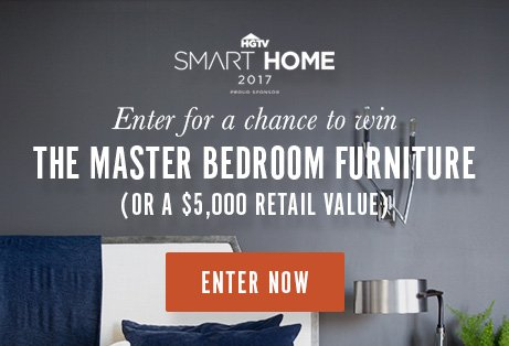 I just entered the HGTV Smart Home Bedroom Sweepstakes by Bassett Furn...