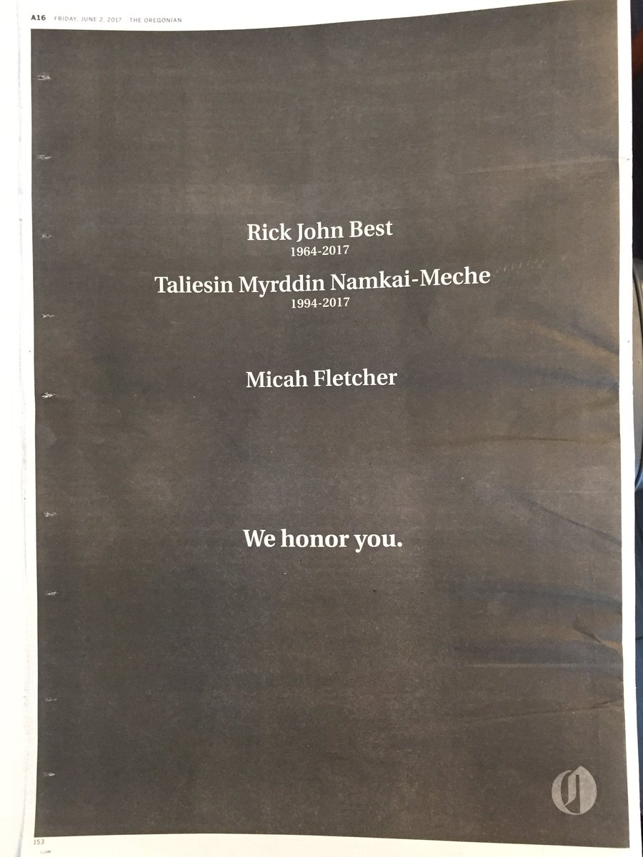 Full page ad in the @Oregonian today. https://t.co/KDmdiMngEK