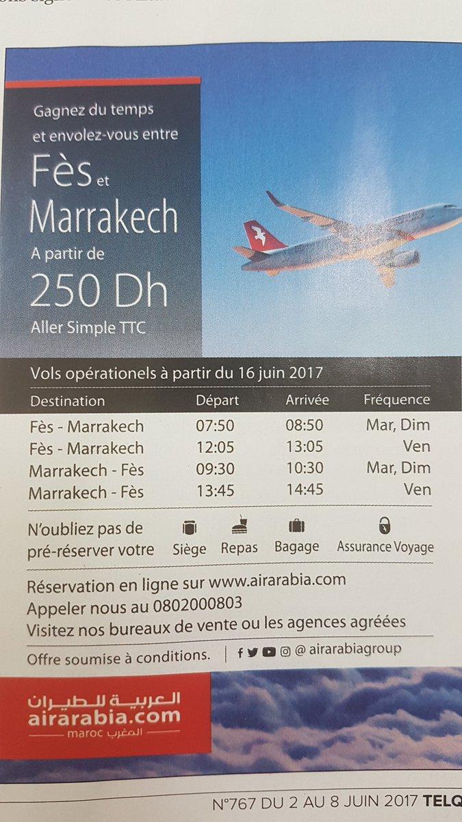 RT @najlaebb: Top les lignes Fès-Marrakech lancées par Air Arabia https://t.co/ZiA60G8GsF