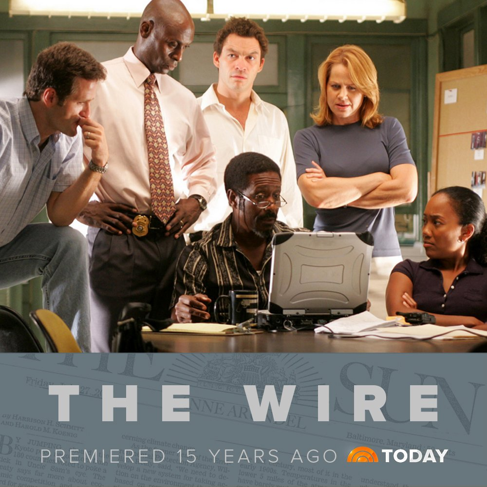 "TODAY on Twitter: ""The Wire premiered on this day 15 years ago! https://t.co/1NidONLsvw"""