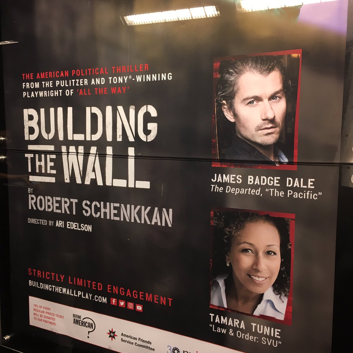 So good! Catch it before it closes. #buildingthewall #theatre #offbroadway