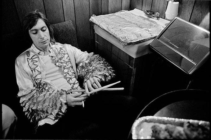 Happy birthday to Charlie Watts. Photo by Jim Marshall, 1972.