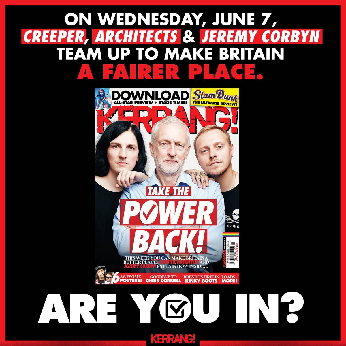 Next week's Kerrang! is one of the most important issues we've ever made. Don't miss it. On sale, Wednesday, June 7 https://t.co/SXx2yY5py7