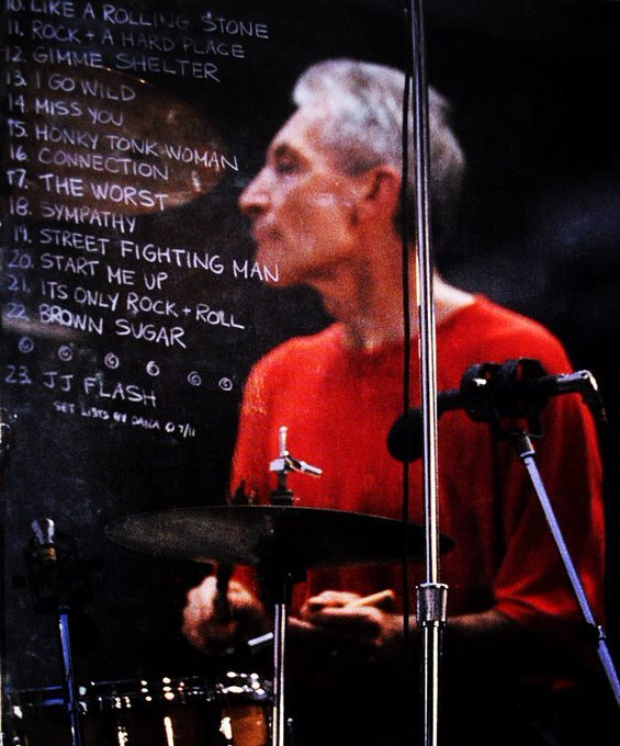 Happy birthday to Charlie Watts of The Rolling Stones