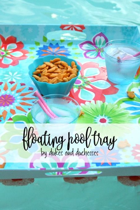 DIY Floating Pool Tray