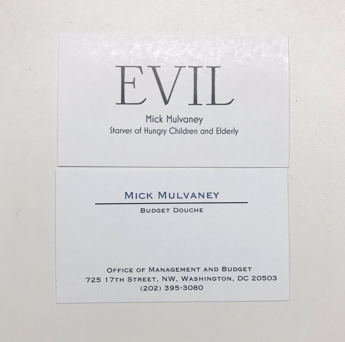 Alan rappeport on twitter what does mick mulvaney get for fan alan rappeport on twitter what does mick mulvaney get for fan mail new business cards reheart Gallery