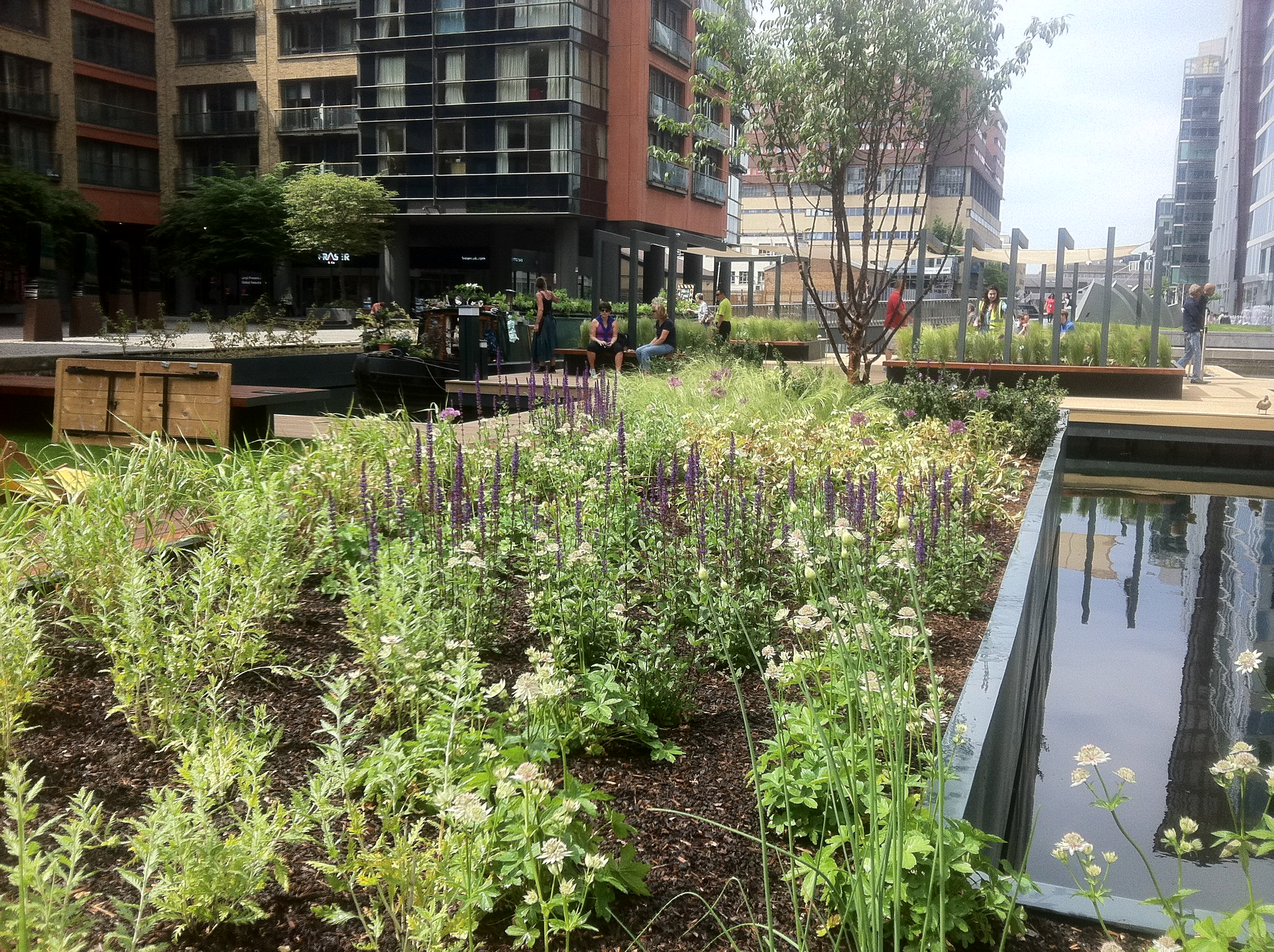 Day 2 #30DaysWild Went for a stroll to the floating pocket garden @30DaysWild @PaddingtonCen #local #chelseafringe https://t.co/4GMWjjwDYB