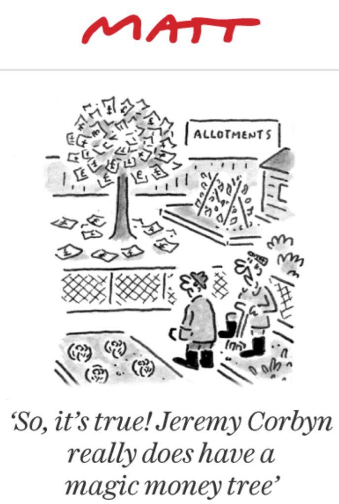 Political Cartoon On Twitter Jeremy Corbyn S Magic Money Tree By Matt Political Cartoon Gallery In Putney Businessman cartoon character treats money tree. magic money tree