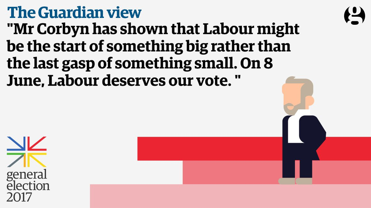 The Guardian view on #GE2017: The Tories have run on fear. Labour offers hope and deserves our vote https://t.co/KNgedL5aBl