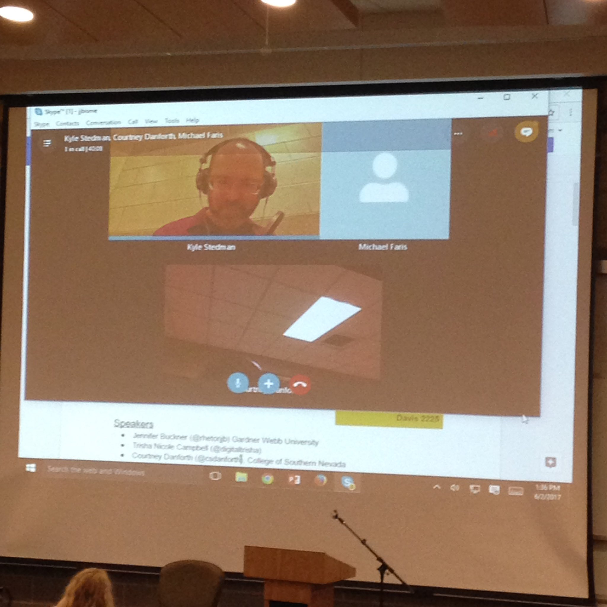 "Stedman and Danforth perform their ""radio drama, or play, or something"" live via Skype in #b3 at #cwcon https://t.co/wvfuAJP8KW"
