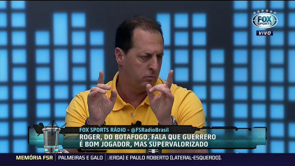Mano sobre declaração de Roger, do Botafogo: 'O Guerrero joga no Flamengo, e o Flamengo incomoda' #FSRádioBrasil