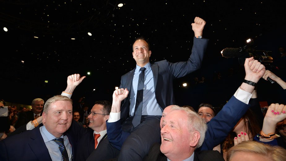 Video: Leo Varadkar is elected leader of @FineGael #FGleadership #FGLE17 https://t.co/DZzWZPlDSc