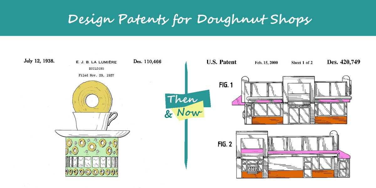 Design #patents give #IP protection for ornamental designs, like these unique shop exteriors. #NationalDonutDay