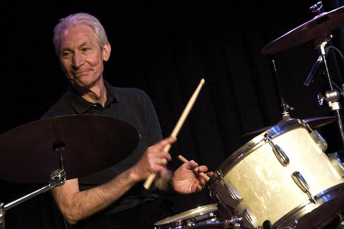 Happy 76th birthday to Charlie Watts, the constant drummer for the greatest rock \n\ roll band, ever.