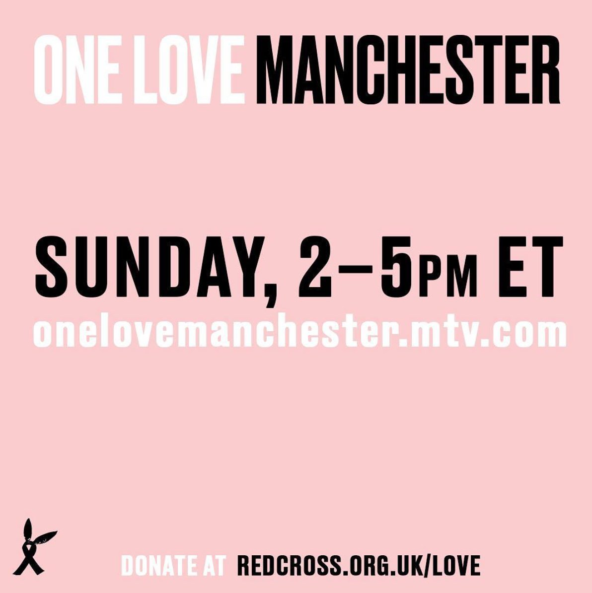 Watch #OneLoveManchester with us this Sunday at 2p EST at https://t.co/lYZwLFGc2i 💜 To make donations please visit https://t.co/ZgAn4DxyLx