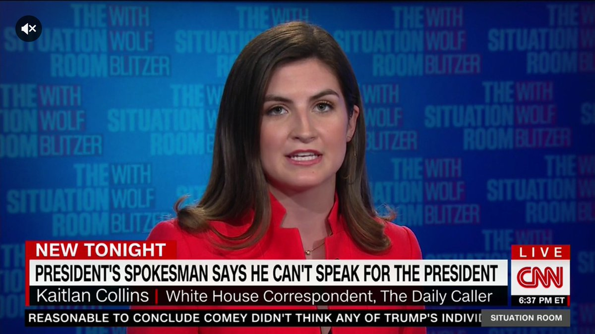 CNN banner: 'PRESIDENT'S SPOKESMAN SAYS HE CAN'T SPEAK FOR THE PRESIDENT'