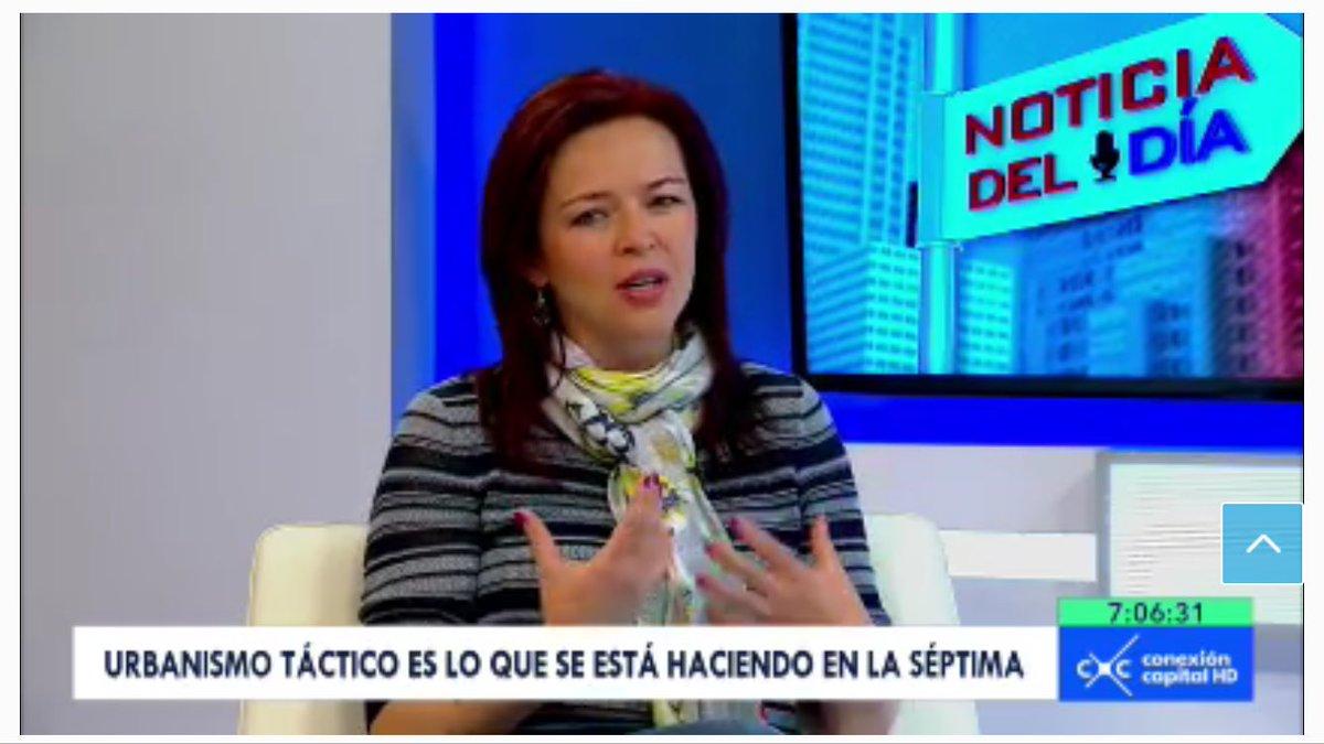 En @CanalCapital esta nuestra directora Mónica Ramírez, hablando sobre Urbanismo táctico https://t.co/4iF09ILzwm