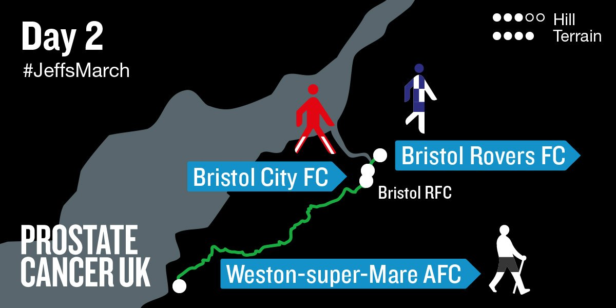📣 It's Day 2 of #JeffsMarch!  @WSM_AFCOfficial ➡️ @bcfctweets ➡️ @Official_BRFC    Follow and support Jeff at https://t.co/83tp1CJHcI https://t.co/9gfJwDBQ7v
