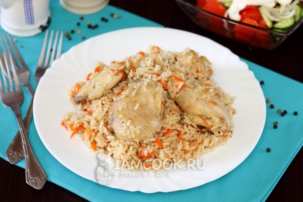 рецепт плова с курицей с изюмом и