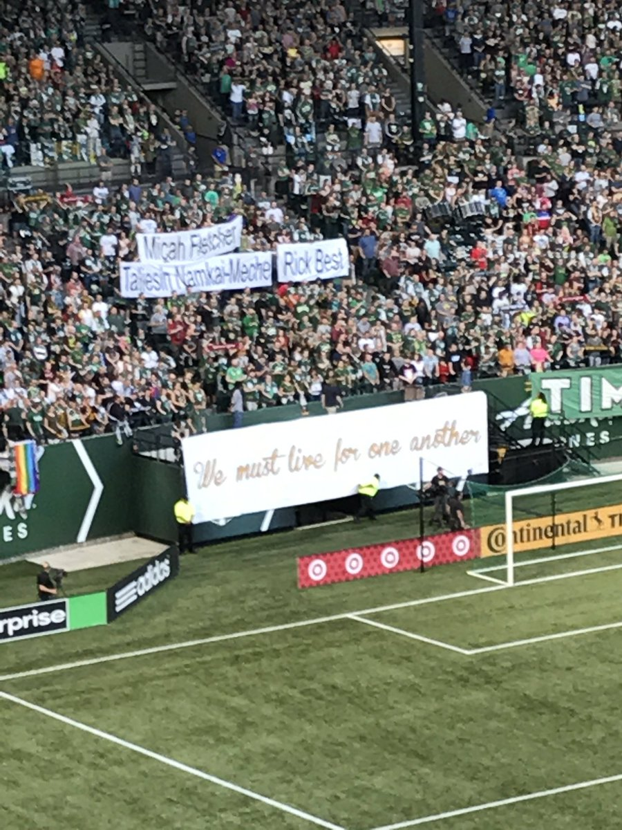 Timbers Army tribute during the moment of silence. #RCTID https://t.co/tbVHpsndEf