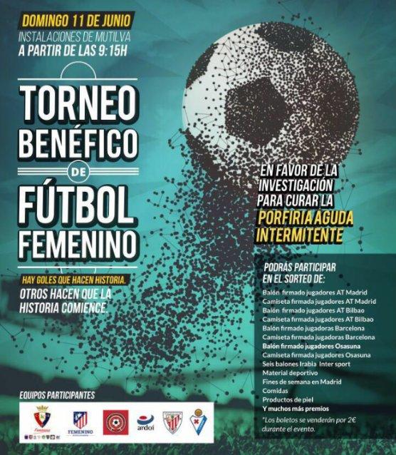 Desde La Banda - Fútbol Navarro (DLB-FN) Torneo benéfico de fútbol femenino en favor de la porfiria aguda intermitente del Centro de Investigación y Medicina Aplicada (CIMA) de la Universidad de Navarra en Mutilva.