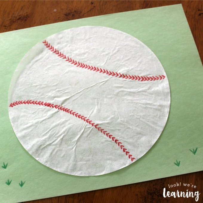 Coffee Filter Baseball Craft