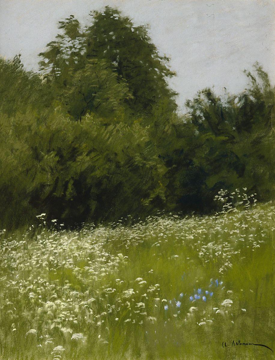 Картинки по запросу луг на опушке леса 1898 левитан