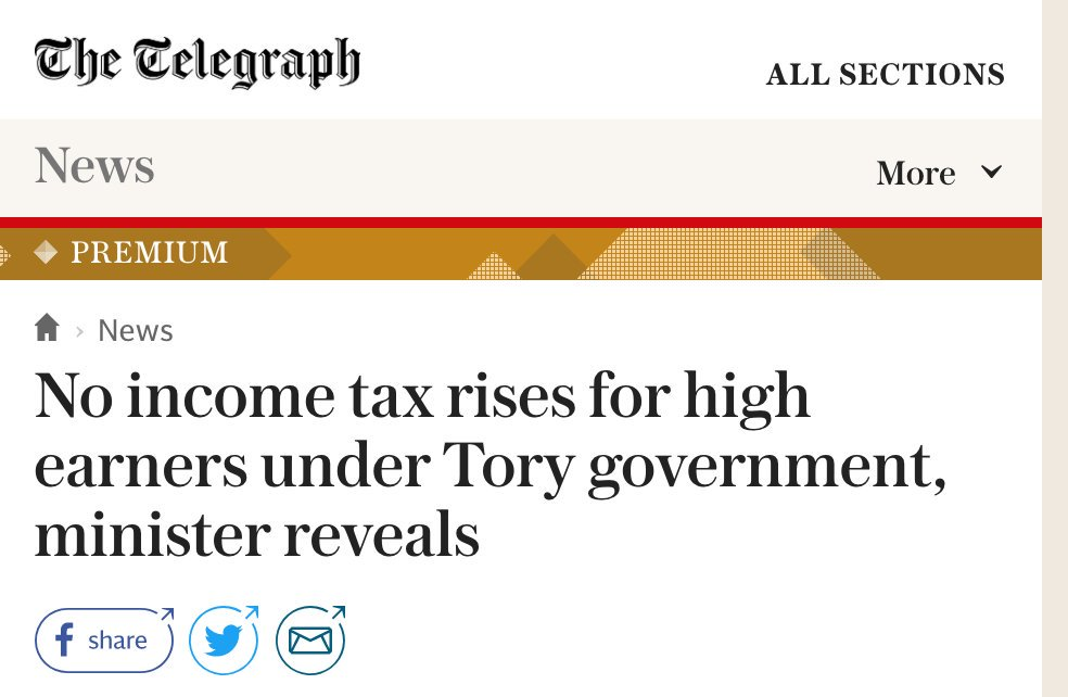 Labour: No tax rises for 95% of taxpayers.  Tories: No tax rises for the well-off.  There's your choice. Spread the word!